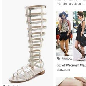 Stuart Weitzman gladiator sandals size 39 gold